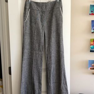 NWT Bebe linen wide leg pants with piping size 2!